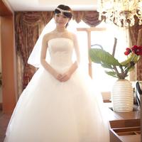 Beautiful bride wedding dress handmade beading elegant qi in wedding tube top