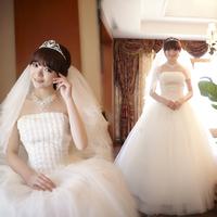 Exteravagant 2012 bride tube top handmade beading wedding dress sparkling thin classic
