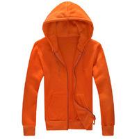 Napping Fleeces Solid Color Cardigan Sweatshirt Men Casual  Hoodies Free Shipping