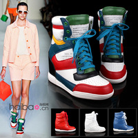 Женские кеды and retail! 2012 New design Isabel Marant brand fashion Sneakers shoes women's boots Increase style all leather
