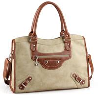 Fashion bags preppy style fashion women's handbag big Medium genuine leather motorcycle bag Women messenger bag briefcase