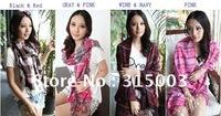 2012  Korean autumn and winter lady loved Plaid imitation cashmere  long plaid shawls scarf