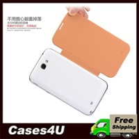 Kailaideng BEI Series Ultra-thin 1.33 mm Leisure Leather Case for Samsung Galaxy Note II N7100 + 50pcs/lot DHL Free Shipping