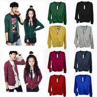 Sweet Candy Color Lovers Cardigan V-Neck Cardigan Sweater Men's Clothing