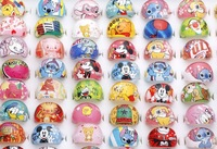 New Wholesale 50pcs Children Cartoon Lucite Resin Rings,Free Shipping