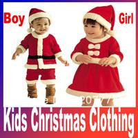 Baby Christmas Romper Set/Kids Christmas clothing cotton girl Sanda dress Masquerade wholesaler hot sales Free shipping