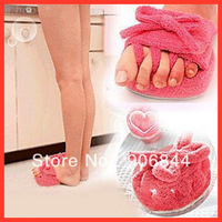 New One Pair Pink Slim Slipper Half Sole Foot Massage Shoes Weight Loss Dieting Legs Slippers Free Shipping
