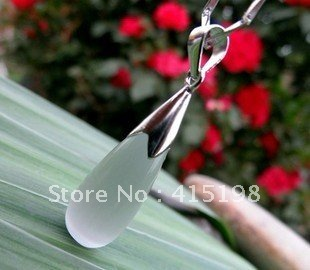Opal Sterling Silver Necklace female short paragraph jewelry(China (Mainland))