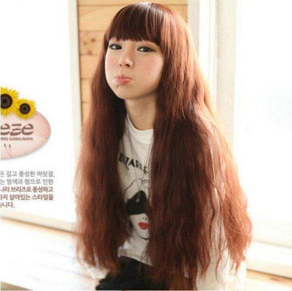 Style élégant 3 couleurs droite perruques tranche Extensions cheveux