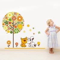 Wall stickers minstrelsy shar pei dog child real lovers jm
