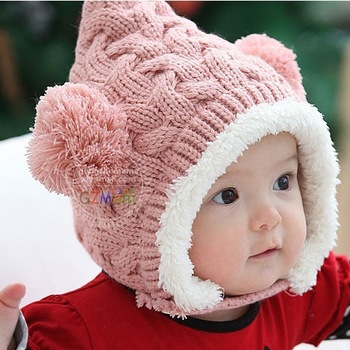 SWEETDAY  winter baby hat child knitting wool cap protect ear