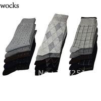 2014 Free shipping  2013 fashion wocks business men socks cotton long barrel gentleman socks  a141 of