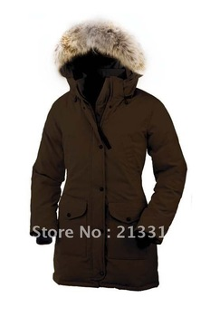 CPAM Free Shopping 2013 Warm Down Jacket Lady's Winter Coat  Down Parka Trillium Jacket Women's Long Down Coat Size XS -- XL