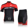 Free shipping!Castelli Red team 2011 Tour de France bicycle short tops+shorts,cycling jerseys Suit, bike wear,Accept Customize
