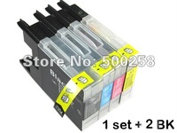 6 pcs New Compatible ink cartridge LC73/LC77/LC71/LC1240/LC1220/LC1280 for Brother Printer MFC-J280W/J430W/J435W