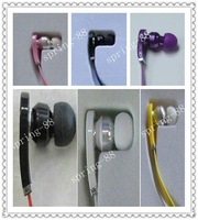 Hot! High Resolution Headphone In-ear earphone, soft box straight jack for mp3 mp4, colors:red  white