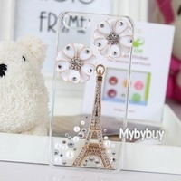For iPhone 5 3D Paris Eiffel Tower Crystal Diamond Bling Case. IP6085