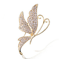 2013 hot selling accessories brooch boutique accessories - sparkling crystal butterfly brooch heart pin