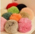 K054 ultralarge ! multicolour . rabbit fur ball pompon mobile phone bags pendant