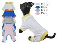 Pet clothes dog clothes one piece sleepwear 100% cotton chromophous dog bodysuit dog summer