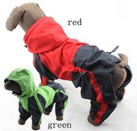 Pet clothes dog clothes dog raincoat large dog hooded raincoat husky raincoat
