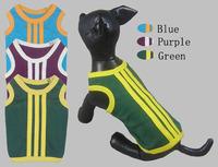 Pet clothes pet clothes summer vest 100% cotton stripe teddy
