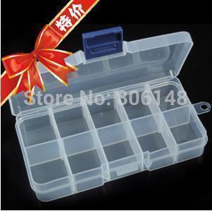 10 transparent plastic jewelry storage box,New convenient plastic Jewelry display & packaging box 13.2*6.8*2.3cm Free shipping