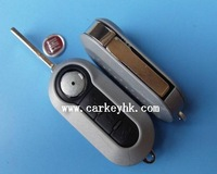 High quality Fiat 3 buttons modified flip remote key shell silver colour, key blank,  fiat key case white