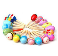 Wooden hand bell educational toys multicolour rod sand hammer sand hammer series(small)