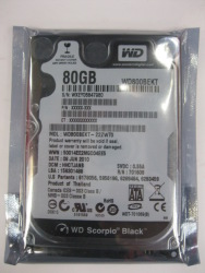 Wd western digital 2.5 80g serial sata 7200 laptop hard drive(China (Mainland))