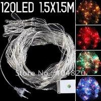 New Colorful 120-LED String Lamp Light (1.5x1.5m) for Christmas & Halloween Wedding 220V EU plug 901743-YL-005