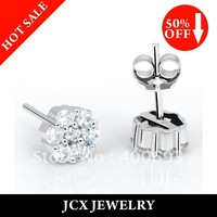 Free Shipping Promotion Womens 925 Sterling Silver Fashion  Studs