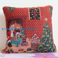 Pillowcase 1PCS 17 inch (45cm*45cm) Christmas Santa Claus Cotton flax Pillow Cushion Cover For Sofa or Bed P55