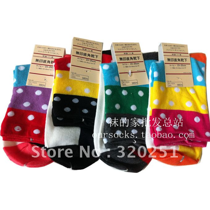 Free shipping Wholesale 2013 thicker winter lady in tube cotton cute polka dot Bohemia wind sock a159 of(China (Mainland))