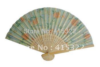 150pcs/lot free shipping assorted flower designs ladies hand fans souvenir gift favor