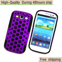 New Silicone TPU Bubble Plastic Hard Back Case for Samsung Galaxy S III S3 i9300 Free Shipping DHL CPAM EMS CPAM HKPAM GAA-6