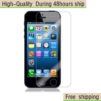 New Screen Protector  with Retail Package Clear For Apple iphone 5 5G 5th Free Shipping DHL UPS EMS HKPAM CPAM