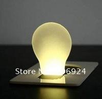 Wholesale-LED Light Bulb Card, Pocket Credit Card Lights Wallet Size Lamp Nolvelty Gadget for Christmas 200pcs