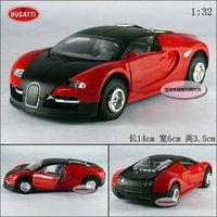 New Bugatti Vayron 1:32 Alloy DNew Bugatti Vayron 1:32 Alloy Diecast Model Car Toy Collection With Sound&Light Red B177a