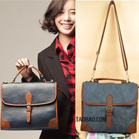 A603 2012 new arrival vintage fashion bags the casualness unisex cool buckle women's handbag