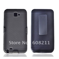 Free Shipping Linear Series PC phone case with Holster For Galaxy Note/ I9220