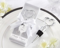 Free Shipping+Wholesale Price,100pcs/lot,Heart Design Bottle Stopper Wedding Favor in New Gift box