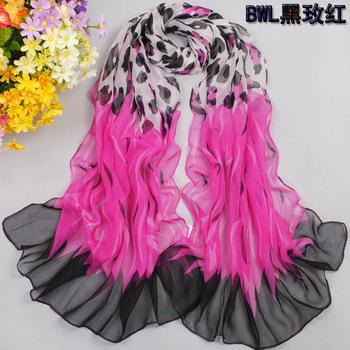 2012 georgette silk scarf chiffon silk scarf plus size long design scarf summer sun scarf