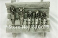 Antique Color CLAW FULL FINGER KNUCKLE ARMOR GOTHIC BIKER RING COOL FASHION FOR NIGHT PARTY