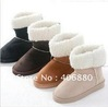 Best selling!!New arrival fashion winter warm flat heels solid snow boots for women Free shipping 1pair