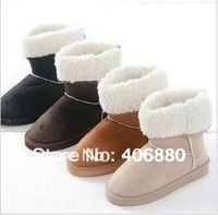 Fashion women boots winter warm flat heels snow boots Free shipping Best selling!