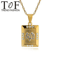 TP0512 Fashion jewelry Elaborate 18K Gold Plated Cubic Zirconia  Allah Pendant