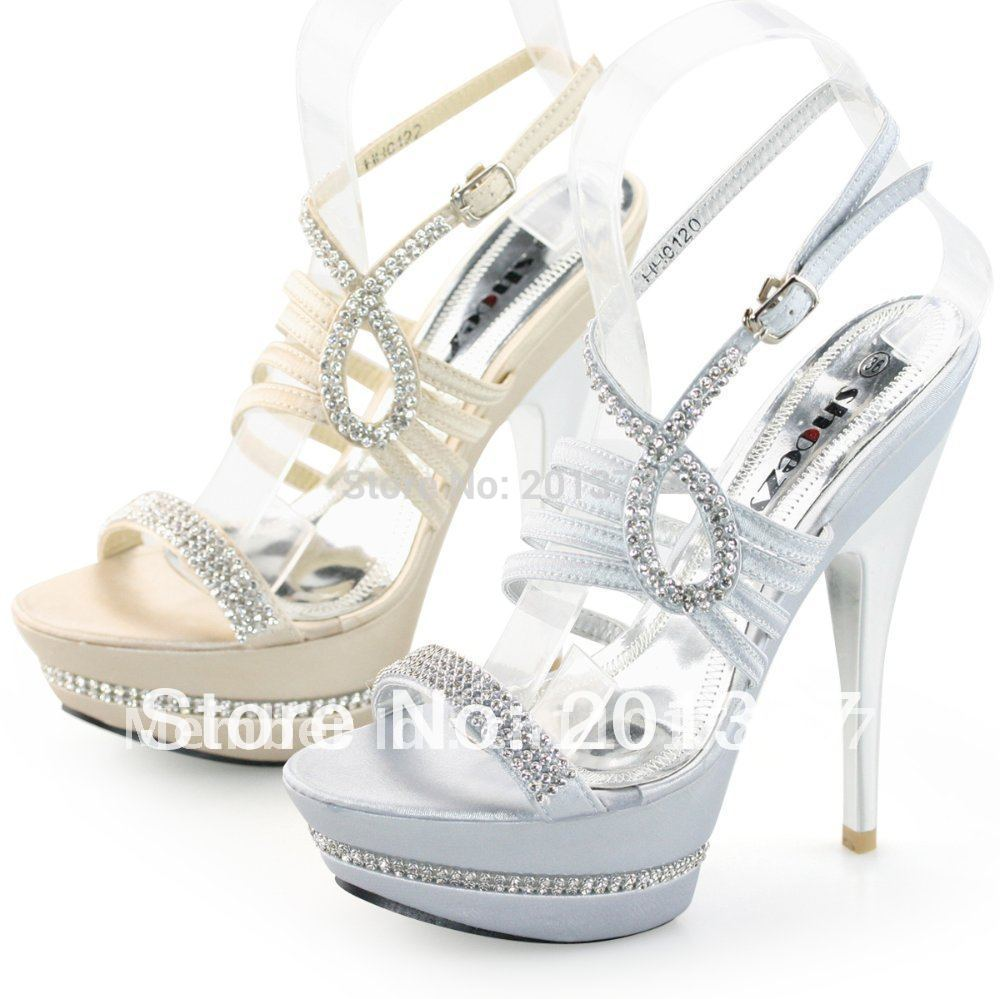 Silver Strappy Heels Cheap