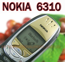 Classic Bar NOKIA 6310 Mobile Cell Phone Original GSM Dual-Band Unlocked Black/Gold &amp; Gift(China (Mainland))