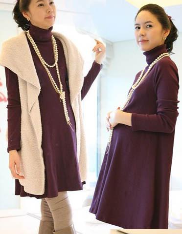 4h1 winter elegant plus size maternity clothing loose maternity top